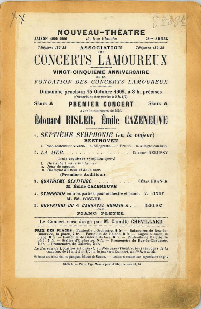 Programme Debussy La Mer